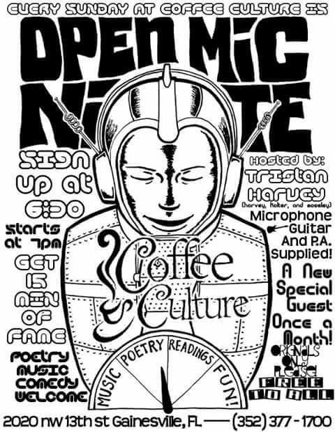 Open Mic Night Coffee Culture Sundays